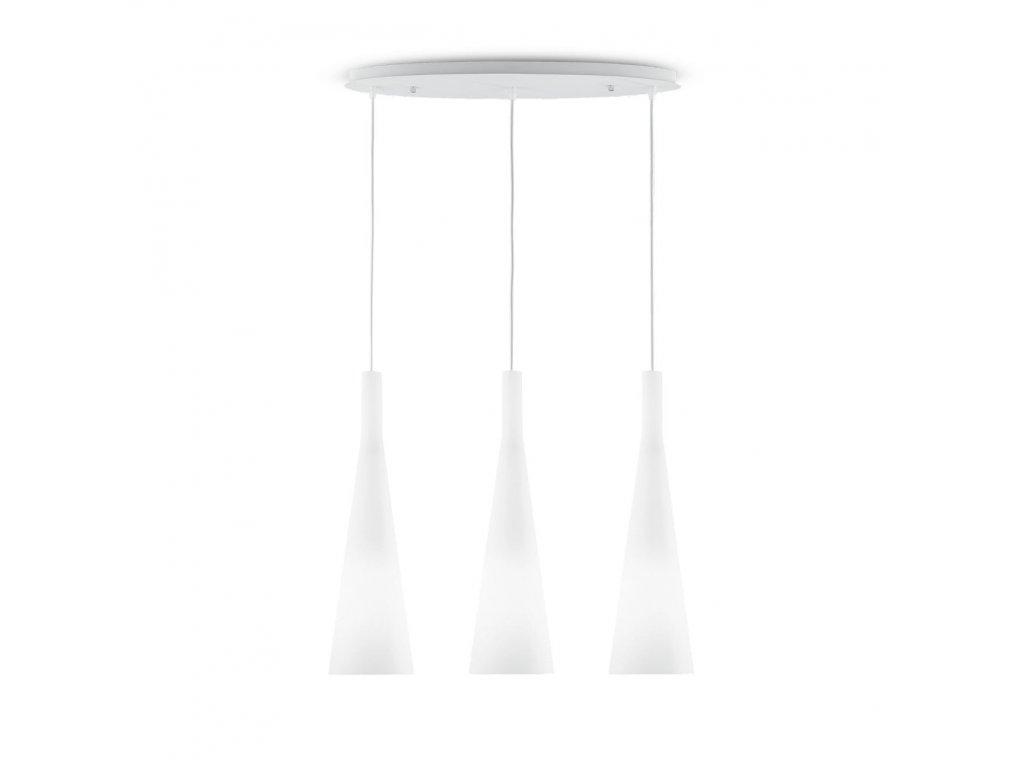 IDEAL LUX 030326 závěsné svítidlo Milk SP3 3x60W E27