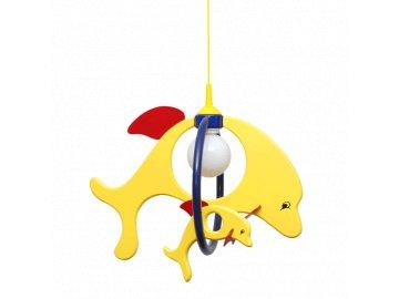 PREZENT 28117 dětský lustr Dolphin 1x60W E27