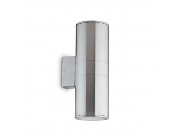 IDEAL LUX 033020 nástěnné svítidlo Gun AP2 Big Alluminio 2x60W E27 IP54