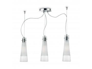 IDEAL LUX 033952 závěsné svítidlo Kuky Clear SP3 3x60W E27