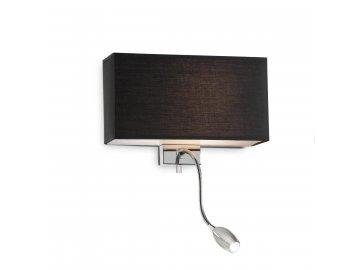 IDEAL LUX 035956 nástěnné LED svítidlo Hotel AP2 Nero 1x60W E27/