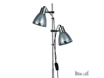 IDEAL LUX 042794 stojací lampa Elvis PT2 stříbrná 2x60W E27