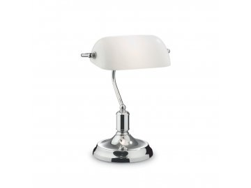 IDEAL LUX 045047 stolní lampa Lawyer TL1 Cromo 1x60W E27
