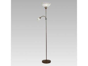 PREZENT 879 lampa stojací Pompez 1x100W+1x40W E27+E14
