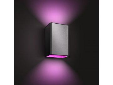 HUE Resonate SVÍTIDLO VENKOVNÍ NÁSTĚNNÉ LED RGBW 2x8W 1200lm 2000-6500K IP44, nerez