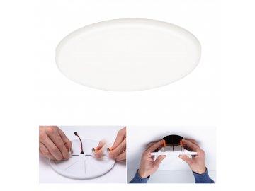 PAULMANN - LED vestavné svítidlo Veluna VariFit IP44 kruhové 185 17,5W 4.000K satén, P 92392