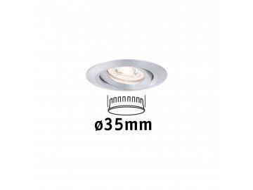 PAULMANN - LED vestavné svítidlo Nova mini výklopné 1x4W 2.700K hliník, P 94296