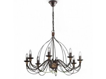 IDEAL LUX 057194 lustr Corte SP8 Ruggine 8x40W E14