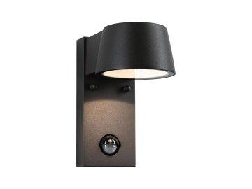 PAULMANN - Venkovní nástěnné svítidlo Capea černá IP44 6W 230V teplá bílá pohybové čidlo, P 94453