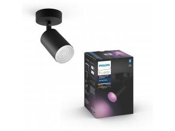 Hue Fugato Bluetooth SVÍTIDLO BODOVÉ GU10 5,7W 350lm 2000-6500K, černá