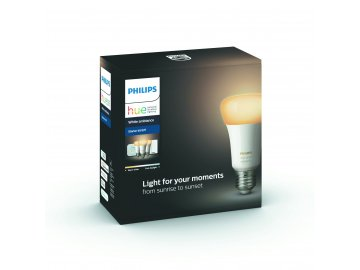 Hue Bluetooth 3x žárovka LED E27 9,5W 806 lm 2200-2700K + bridge + switch