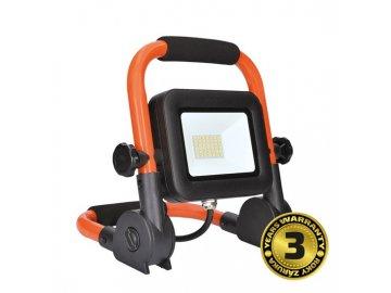SOLIGHT - LED reflektor PRO se sklopným stojanem, 30W, 2550lm, 5000K, kabel se zástrčkou, IP65