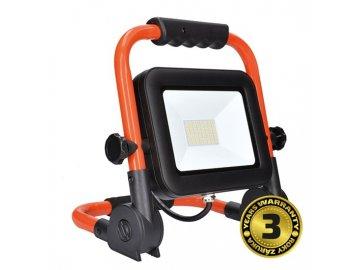SOLIGHT - LED reflektor PRO se sklopným stojanem, 50W, 4250lm, 5000K, kabel se zástrčkou, IP65