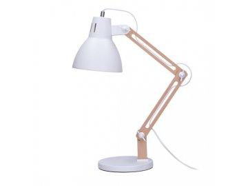 SOLIGHT - Stolní lampa Falun, E27, bílá