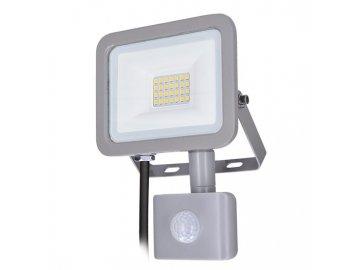 SOLIGHT - LED reflektor Home se sensorem, 20W, 1500lm, 4000K, IP44, šedý
