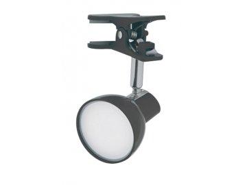 NIPEKO nastavitelná LED lampička s klipem černá