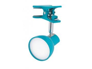NIPEKO nastavitelná LED lampička s klipem modrá