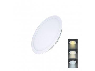 Solight LED mini panel CCT, podhledový, 6W, 450lm, 3000K, 4000K, 6000K, kulatý
