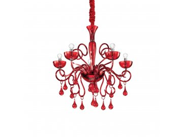 IDEAL LUX 073453 lustr Lilly SP5 Rosso 5x40W E14