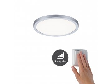 LED vestavné svítidlo Areo VariFit IP44 3-krokové-stmívatelné 175mm 13W 4.000K matný chrom - PAULMANN