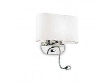 IDEAL LUX 074900 nástěnné LED svítidlo Sheraton AP2 Bianco 1x40W/1W E14/
