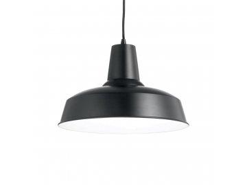 IDEAL LUX 093659 závěsné svítidlo Moby SP1 Nero 1x60W E27