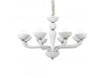IDEAL LUX 094045 lustr Casanova SP8 Bianco 8x40W E14