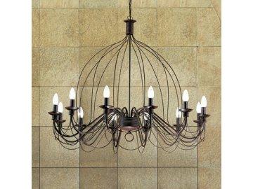 IDEAL LUX 097671 lustr Corte SP12 Ruggine 12x40W E14