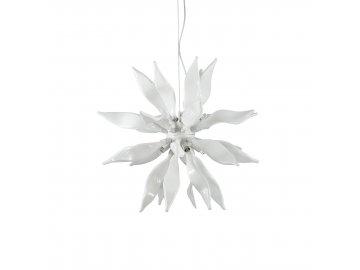 IDEAL LUX 111957 závěsné svítidlo Leaves SP8 Bianco 8x40W G9