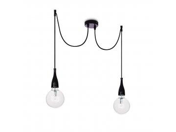 IDEAL LUX 112671 závěsné svítidlo Minimal SP2 Nero 2x60W E27