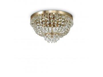 IDEAL LUX 114675 křišťálový lustr Caesar PL5 Oro 5x40W G9