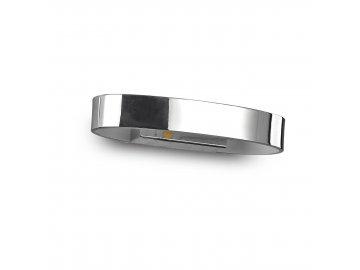 IDEAL LUX 115160 nástěnné LED svítidlo Zed AP1 Oval Cromo 1x5W 3000K