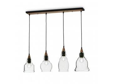 IDEAL LUX 122557 závěsné svítidlo Gretel SB4 4x60W E27