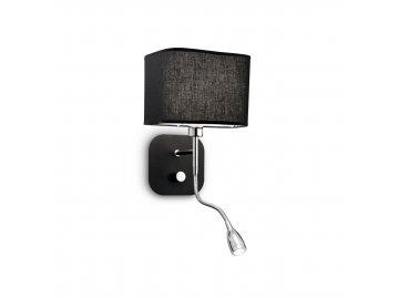 IDEAL LUX 124179 nástěnné LED svítidlo Holiday AP2 Nero 1x40W/1W E14/