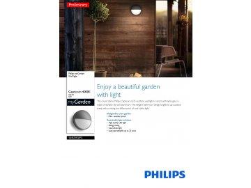 PHILIPS 16455/93/P3 venkovní LED svítidlo Capricorn 1x6W IP44 4000K