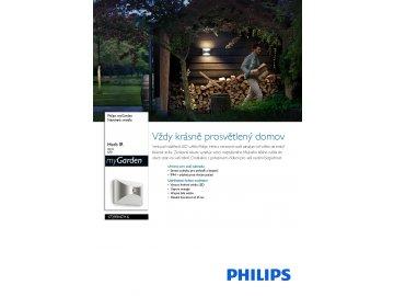 PHILIPS 17299/47/16 venkovní LED svítidlo s čidlem Herb 1x6W IP44 2700K