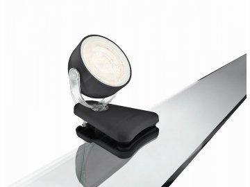 PHILIPS 53231/30/16 LED lampička s klipem Dyna 1x3W 2700K