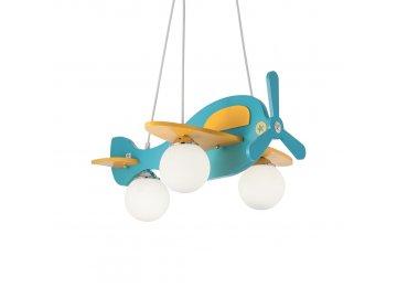 IDEAL LUX 136325 dětský závěsný lustr Avion 1 SP3 3x40W E14