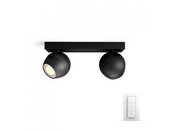 PHILIPS HUE 50472/30/P7 bodové LED svítidlo Buckram 2x3,5W 2200-6500K