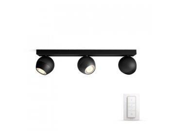 PHILIPS HUE 50473/30/P7 bodové LED svítidlo Buckram 3x3,5W 2200-6500K
