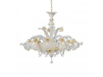 IDEAL LUX 004099 lustr Rialto SP8 Ambra 8x40W E14