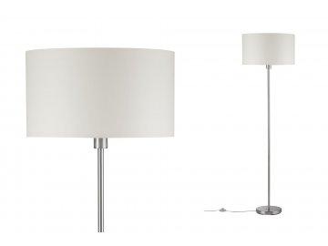 PAULMANN - Stojací lampa Tessa max.50W E27 krémová + kartáč.železo, P 70922