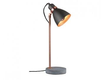 Stolní lampa Neordic Orm měď / beton - PAULMANN P 79624