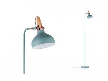 PAULMANN - Stojací lampa Neordic Juna zelená / měď / dřevo, P 79654