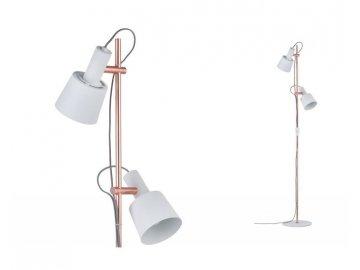 PAULMANN - Stojací lampa Neordic Haldar bílá / měď, P 79660