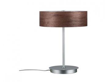 PAULMANN - Stolní lampa Neordic Liska dřevo / chrom matný, P 79684