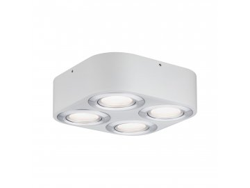 LED stropní svítidlo Argun 4x4,8W bílá mat/hliník kartáčovaný - PAULMANN P 79711