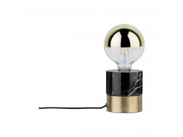 PAULMANN - Stolní lampa Vala mosaz kartáčovaná/mramor černá, P 79742