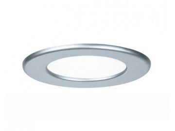 Zápustný LED panel kulatý 6W 4000K matný chrom IP44 - PAULMANN P 92070