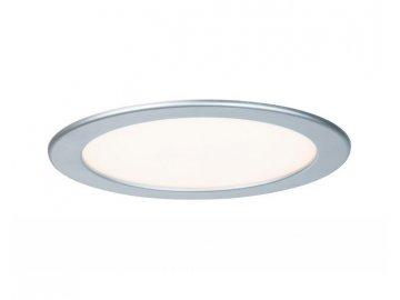 PAULMANN - Zápustný LED panel kulatý 18W 2700K matný chrom IP44, P 92075